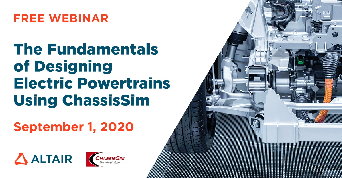 ChassisSim Electric Vehicle webinar presented by Altair