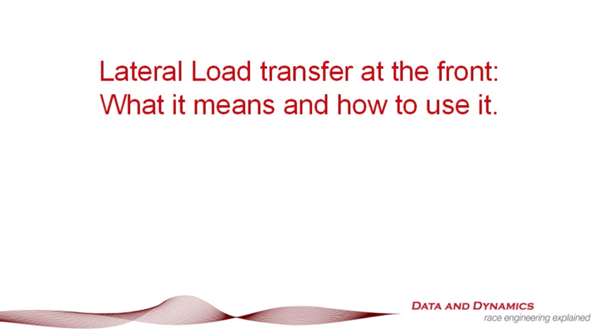 Lateral load transfer – how does it really count